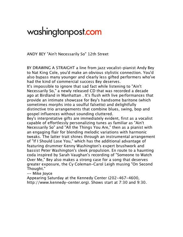 Bey Washington Post